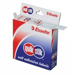 Label quik stik dispenser 10x24mm white
