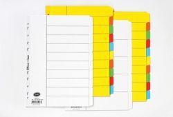 Dividers Bantex A4 manilla white 5 tab