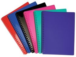 Display book refillable A4 Black gloss