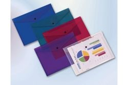 Document folder with button A4 Blue