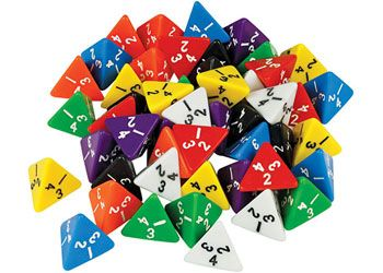 Dice polyhedra 4 Face 21mm