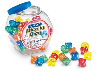 Dice in dice - 10 sides