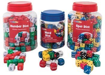 Spot-Number & Words dice kit