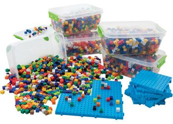 Linking cubes kit 1cm in 10 colours