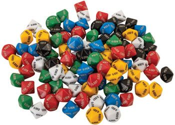 Dice 10 face 0.001 to 0.009