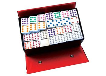 Dominoes 12x12 colured dots 91 piece set