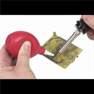Solder sucker/blower bulb type red