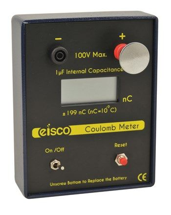 Coulomb meter digital electroscope