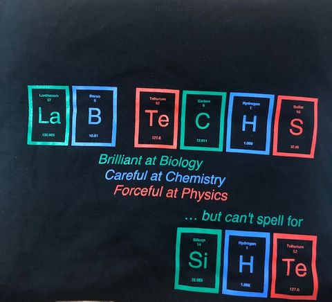 Lab tech T-shirt medium