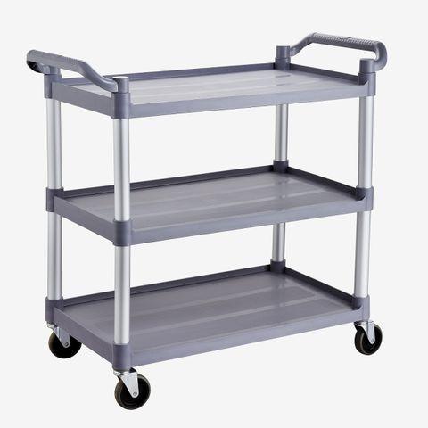 Trolley 3 shelf PP shelves alum. frame