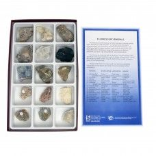 Fluroescent minerals collection