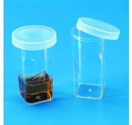 Coulter cell counter cup with snap cap