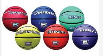 Rubber Basketballs Core Values Set 1