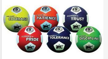 Rubber Soccer balls Core Values Set 2