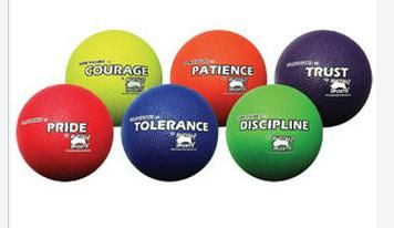 Rubber Playground Ball Core Values Set 1