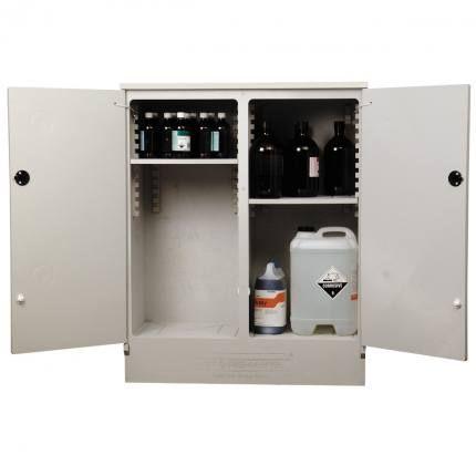 "Cabinet ""CORROSIVE"" 160lt HDPE non-metal"