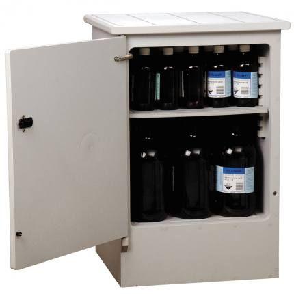 "Cabinet ""CORROSIVE"" 50lt HDPE non-metal"