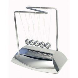 Newton's cradle with silver base