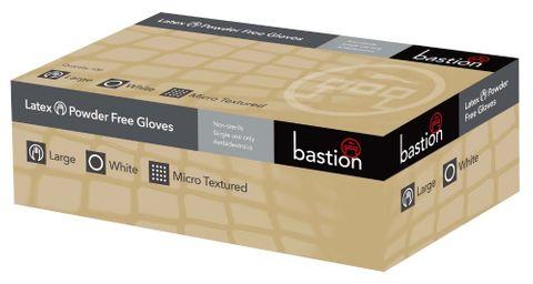 Gloves Latex P/F Medium White