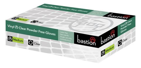 Gloves Vinyl P/free clear Medium