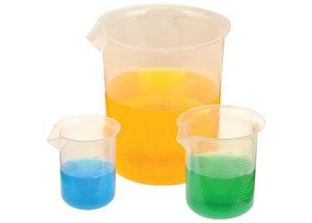 Beakers plastic 50/100/250/500/1000ml