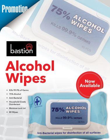 Wipes surface 75% alcohol 14x18cm BULK