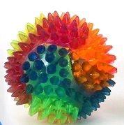 Rainbow spiky flashing ball