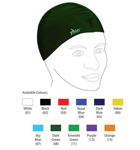 Silicone Swim Cap Senior (11 colours)