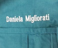 Embroidery for labcoat
