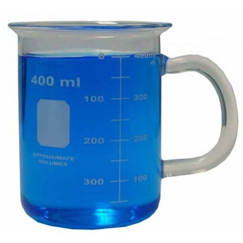 Beaker mug with handle 400ml