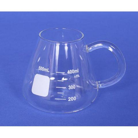 Erlenmeyer mug with handle 400ml