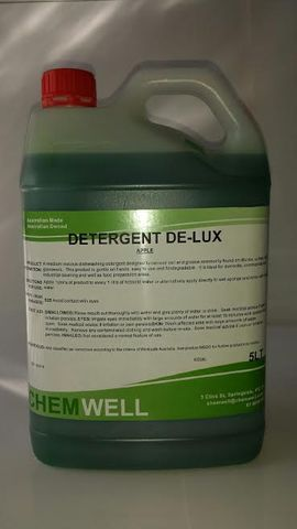 Hand dishwashing detergent de-lux apple