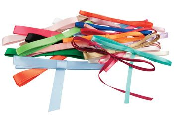 Ribbons assorted colours