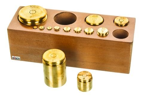 Masses brass set/13 capacity 2000g