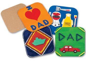 Papier mache square coasters