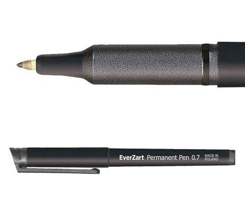 EverZart Permanent Pen Black 20s