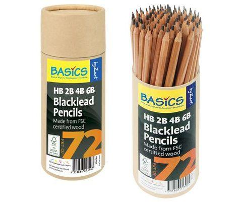 Pencils Blacklead 72s Asst Grades