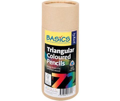 Basics Triangular Colour Pencils 72s