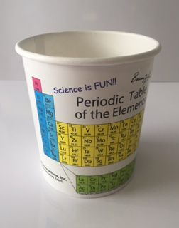 Heat sensitive Periodic Table paper cups