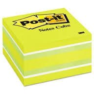 Post-it memo cube ass. 73x73mm