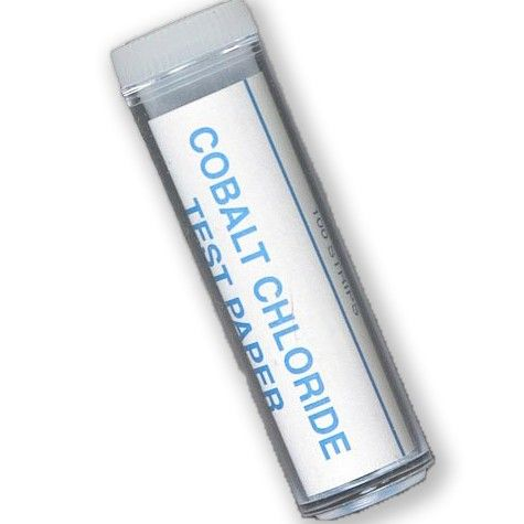 Cobalt chloride test strip paper