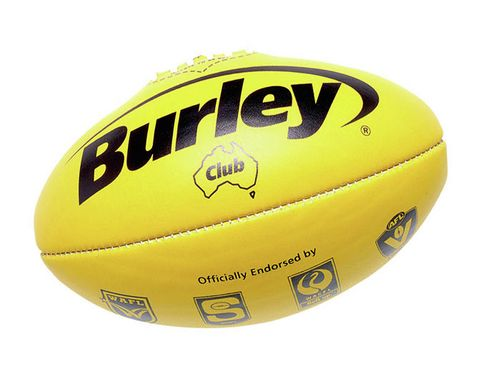 Burley Club Yellow Leather Ball Size 5