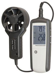 Anemometer/thermometer vane probe