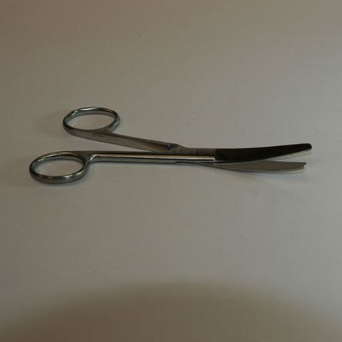 Scissors surgical curved blunt 130mm