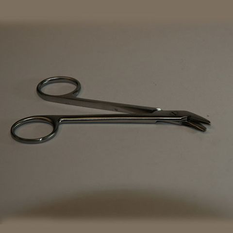Scissors wire cutting fine angled 125mm