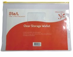 Storage wallets clear 330x240mm large
