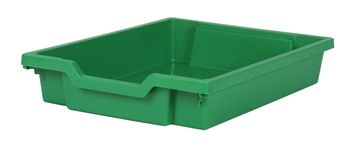Tray storage shallow Green 75mm