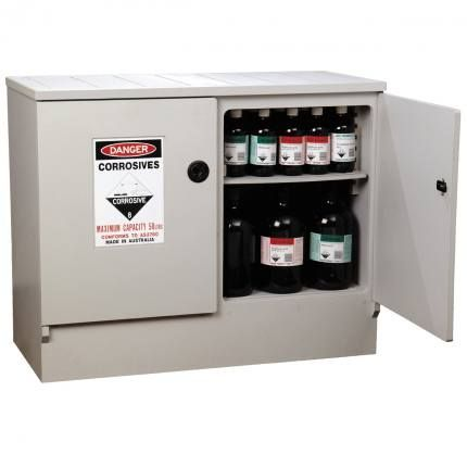 "Cabinet ""CORROSIVE"" 100lt HDPE non-metal"
