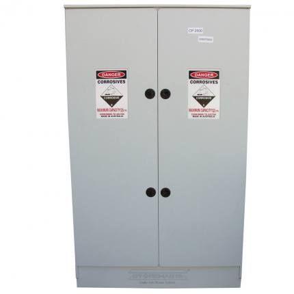 "Cabinet ""CORROSIVE"" 250lt HDPE non-metal"