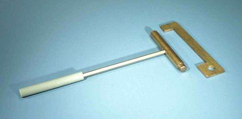 Bar & gauge brass w/insulating handle